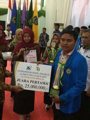 Mahasiswa Sekolah Tinggi Teknologi Industri (STTIND) Padang Raih Juara 1 Lomba Enterprenuership Award II LLDIKTI Tahun 2018