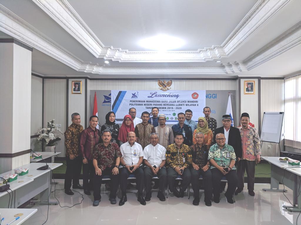 Kerja sama Penerimaan Mahasiswa Baru Mandiri Bersama Politeknik Negeri Padang dan LLDIKTI Wilayah X Tahun Akademik 2019/2020