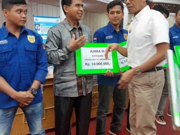Selamat STTIND Padang Juara 3 Kategori Teknologi Menegah Pada Kompetisi Karya Inovasi IPTEK Sumbar 2019