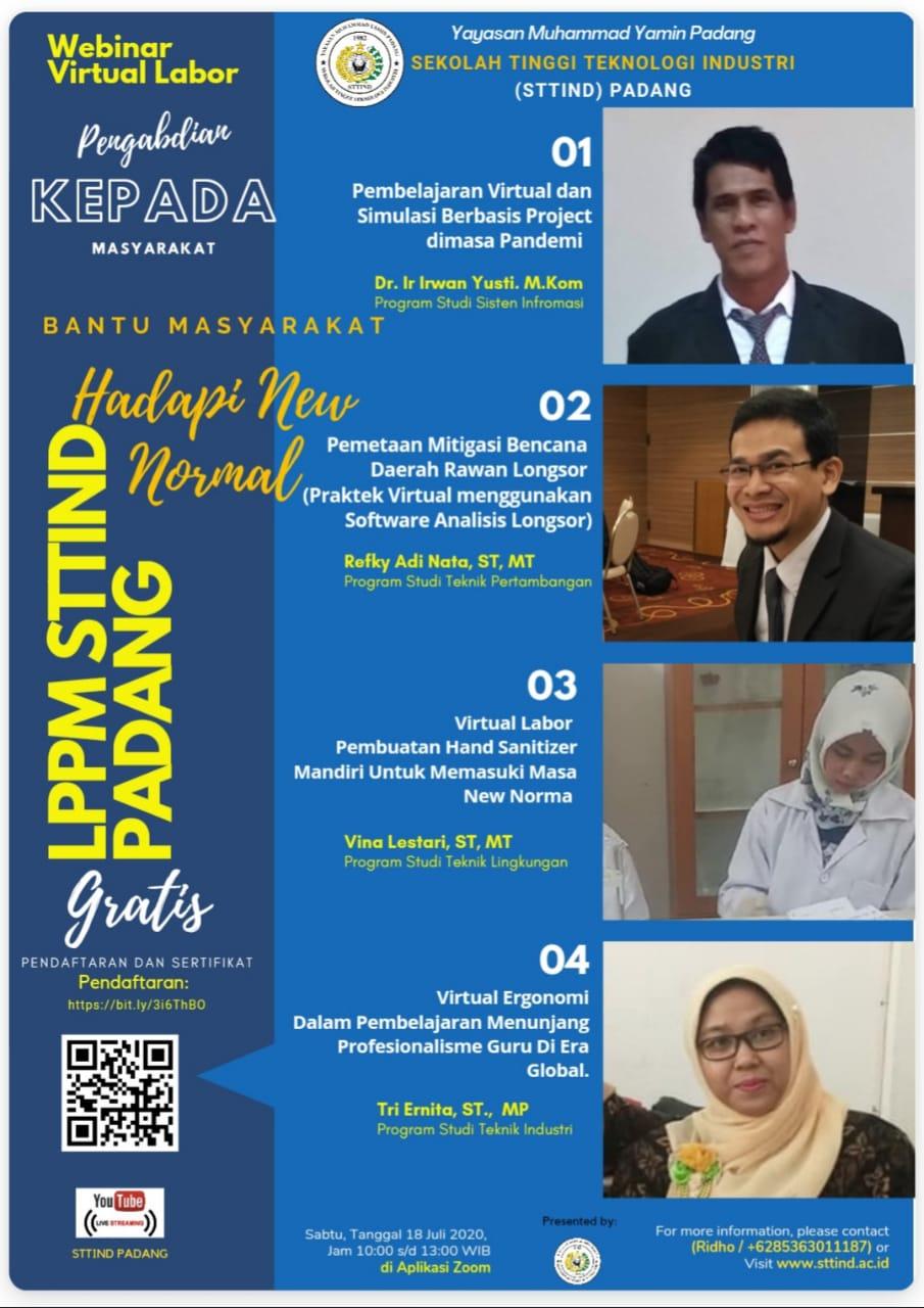 STTIND Padang dan LPPM  Laksanakan Pengabdian Masyarakat Virtual Labor
