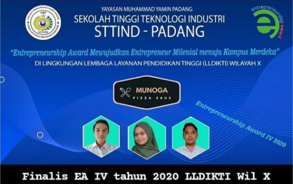 Mahasiswa STTIND Padang Raih Juara III Enterprenuership Award Ke IV 2020