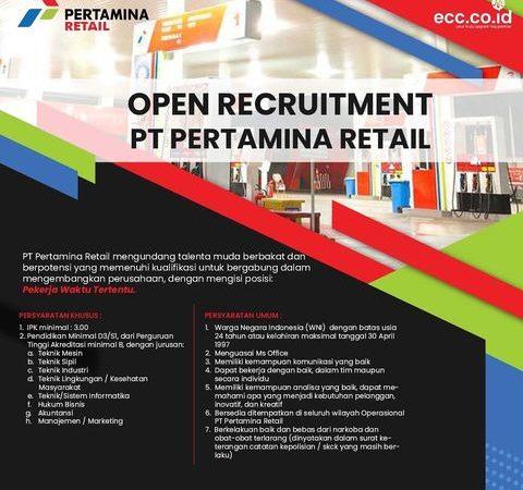 Open Recruitment PT PERTAMINA RETAIL